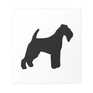 Bloco De Notas silhueta do terrier de lakeland