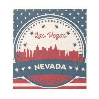 Bloco De Notas Skyline retro de Las Vegas