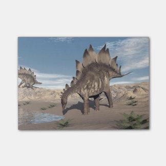 Bloco De Notas Stegosaurus perto da água - 3D rendem
