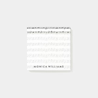 Bloco De Notas Suas notas musicais do texto |