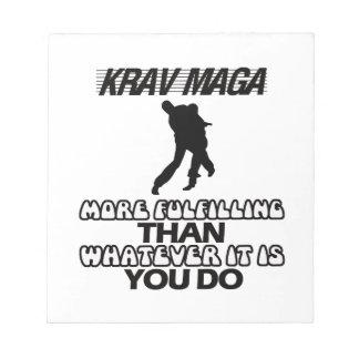 Bloco De Notas Tendendo o DESIGN de Krav Maga