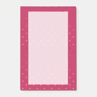 Bloco De Notas teste padrão de bolinhas cor-de-rosa do rosa do