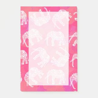 Bloco De Notas teste padrão floral tribal colorido cor-de-rosa