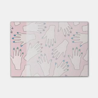 Bloco De Notas Teste padrão Manicured do Pastel do rosa do
