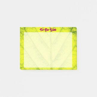Bloco De Notas Teste padrão verde detalhado da folha