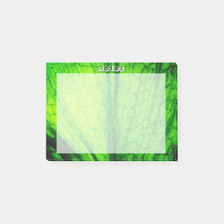 Bloco De Notas Textura verde da folha