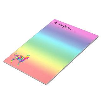 Bloco De Notas Torção dada forma gato do arco-íris