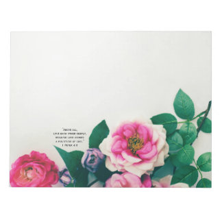 Bloco De Notas Verso cor-de-rosa selvagem cor-de-rosa da bíblia