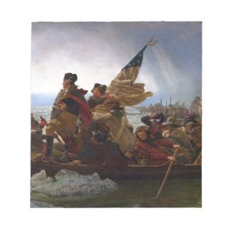 Bloco De Notas Washington que cruza arte do vintage do Delaware -