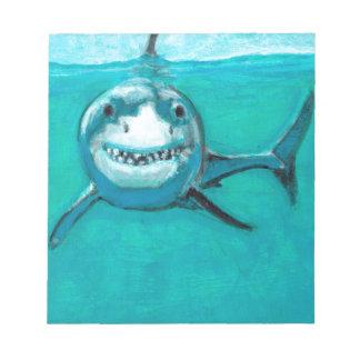 """Bloco De Notas """"Wayne"""" o grande tubarão branco"""
