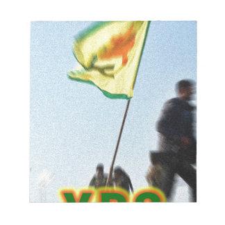 Bloco De Notas YPG - Lutadores curdos da liberdade de Kobani v2