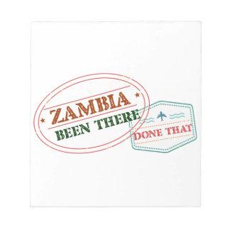 Bloco De Notas Zâmbia feito lá isso