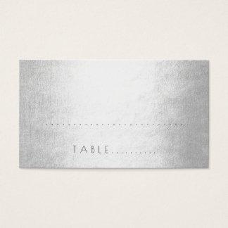 Bloco de prata do lugar da escolta do casamento do cartão de visitas