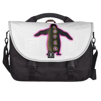 Bloco do pinguim maleta para laptop