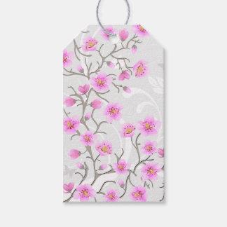 Bloco japonês das flores da cereja de Tag do Etiqueta Para Presente