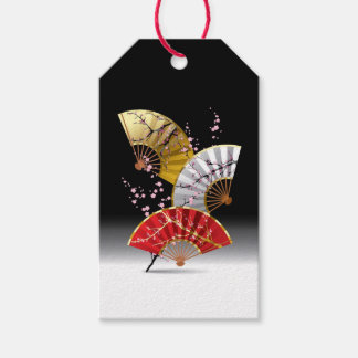 Bloco japonês dos fãs da cereja de Tag do presente Etiqueta Para Presente