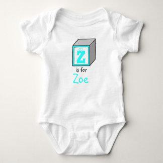 Bloco personalizado do alfabeto do bebê do tshirts
