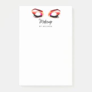 Bloco Post-it A aguarela criativa Eyes o maquilhador