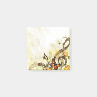 Bloco Post-it A música da borboleta nota notas do Cargo-it®