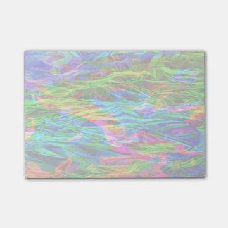 Bloco Post-it Abstrato de incandescência do arco-íris