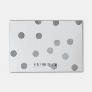 Bloco Post-it Alcance de prata dos pontos para as estrelas