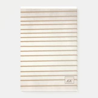 Bloco Post-it almofada de nota alinhada da assinatura em cores