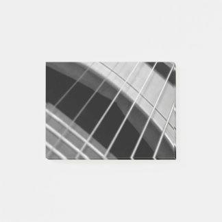 Bloco Post-it Almofada de nota pegajosa com imagem da guitarra