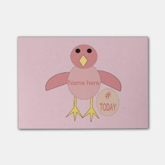 Bloco Post-it Almofada de notas cor-de-rosa feita sob encomenda