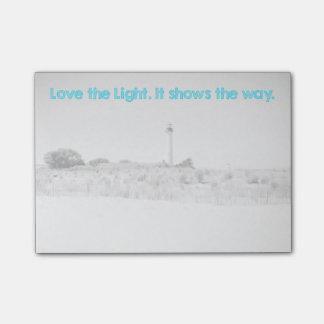 Bloco Post-it Ame a luz