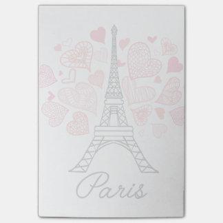 Bloco Post-it Amor de Paris, France