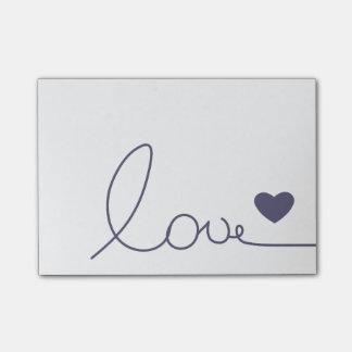 Bloco Post-it Amor de Purple Heart