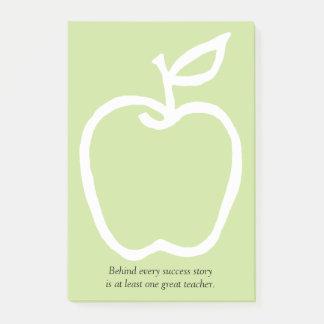 Bloco Post-it Apple com citações 4 x 6 do professor