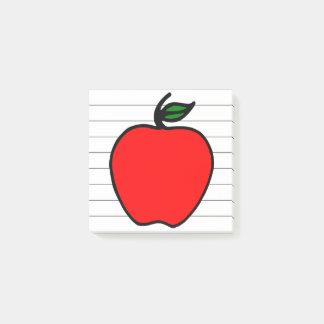 Bloco Post-it Apple do professor pequeno educa o presente das