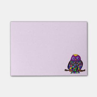 Bloco Post-it Arco-íris da coruja