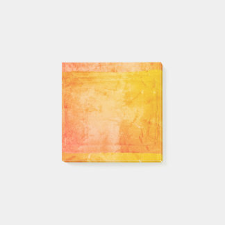 Bloco Post-it Artista amarelo alaranjado do impressão de tela da