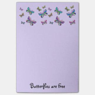 Bloco Post-it As borboletas são notas livres do Cargo-it®