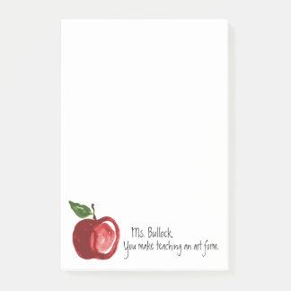 Bloco Post-it As citações do professor com Apple personalizaram