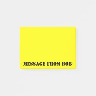 Bloco Post-it As notas de Bob