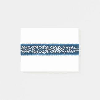 Bloco Post-it Azul do teste padrão de Viking