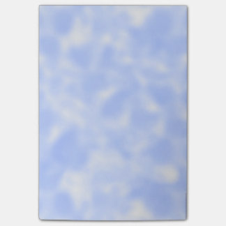 Bloco Post-it Azul e branco Mottled