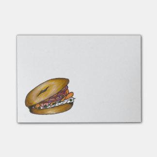 Bloco Post-it Bagel com o post-it de Foodie das cebolas do Lox