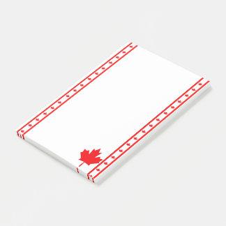 Bloco Post-it Bandeira canadense das listras