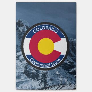 Bloco Post-it Bandeira da circular de Colorado
