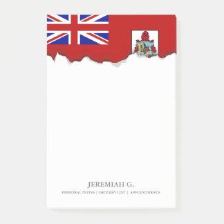 Bloco Post-it Bandeira de Bermuda