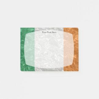 Bloco Post-it Bandeira de Ireland - enrugada
