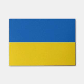 Bloco Post-it Bandeira de notas do Cargo-it® de Ucrânia