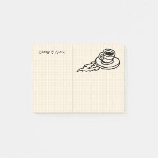 Bloco Post-it Bebida de Latte do café do vôo ou tempo do chá