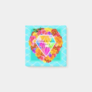 Bloco Post-it Brilho brilhante como um diamante