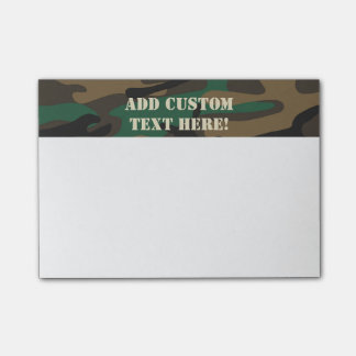Bloco Post-it Camuflagem militar verde de Brown Camo