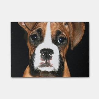 Bloco Post-it Cão de filhote de cachorro do pugilista